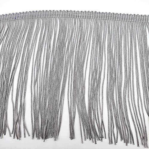 AUBERSIT 10 yards 15 cm lange franje kanten kwastje, polyester kanten rand lint, naai latin jurk kledingstuk gordijn diy accessoires, grijs