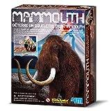 4MKidzlabs:DETERRE-Ton-Dinosaure(Mammouth)/EmballageFRANCAIS, SquelettedansUnBlocdeplâtre,boîte17x22x6cm,8+