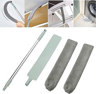 QYY Cepillo Limpiador de Polvo con Varilla Telescópica de Acero Inoxidable,Plumero de Microfibra Lavable para el Hogar,Limpieza de Polvo para Muebles de Sofá Cama Piso