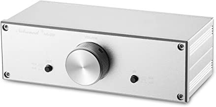 Nobsound Mini Fully-Balanced/Single-Ended Passive Preamp; Hi-Fi Pre-Amplifier; XLR/RCA Volume Controller for Active Monitor Speakers (Silver)