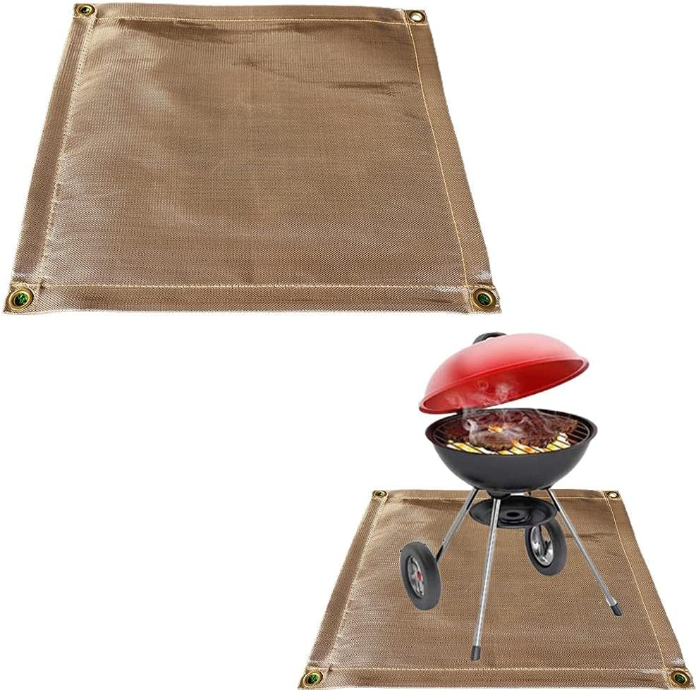 Faruxue Fireproof Mat Our shop most popular for Outdoor Patio 70% OFF Outlet Fire Deck and Heat Pit