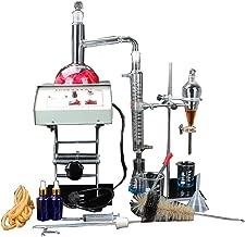 Kit de destilador de agua pura de aceite esencial de apparato destilador de laboratorio, 1000 ml, con elevadores de calentador eléctrico