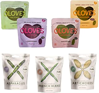 Elma Farms Oloves & Poshi Combo Pack - 24 Pack | All Natural | Healthy Snack | Vegan | Gluten Free | Kosher | Low Cal