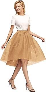 MisShow Damen 5 Schichten Süß Unregelmäßige Rock Röcken Tutu Skirt Reifrock Petticoat Rock