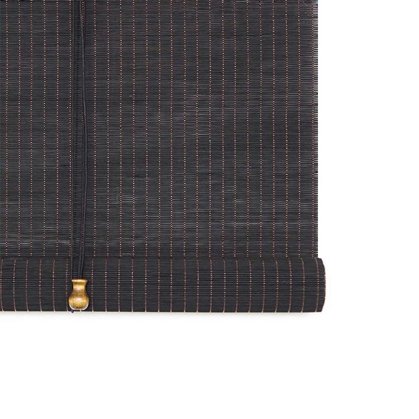 偶然の誘うカート竹製ブラインドカーテン/ロールブラインド、窓/ドア/バルコニー用ヴィンテージカーテン、リフティングカーテン(サイズはカスタマイズ可能)日焼け止め/日よけ