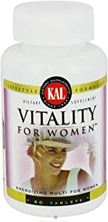 Kal Vitality Tablets for Women, 60 Count