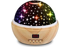 Wooden Grain Star Projector