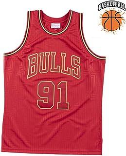 ad asciugatura rapida per uomini e giovani Maglia da basket Chicago Bulls Dennis Rodman 91#
