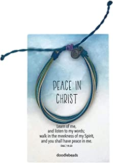 Doodle Beads Peace in Christ Thread Bracelet, LDS Mutual Theme 2018