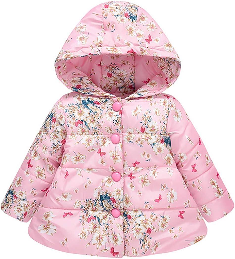 Girl's Coat Hooded Warm Cotton Jacket 2T