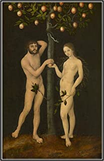 Posters Canvas Wall Art Poster And Prints Lucas Cranach Painting Adam and Eve Canvas Paintings Living Room Decor -50x80 cm...