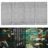 Ioffersuper 4 Pcs Grid Divider Tray Egg Crate Louvre Aquarium Fish Tank Bottom Isolation,Black