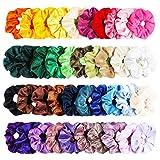 WATINC 40 Chouchous en Velours Set Élastiques à Cheveux Cravates Multicolore...