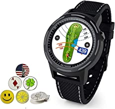 Golf Buddy Aim W10 Bluetooth Wireless Golf GPS Smartwatch Bundle with 5 Ball Markers and 1 Hat Clip - GPS Rangefinder Watc...