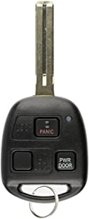 KeylessOption Keyless Entry Remote Fob Uncut Car Master Ignition Key Blade For Lexus RX330 RX350 RX400h RX450h, HYQ12BBT