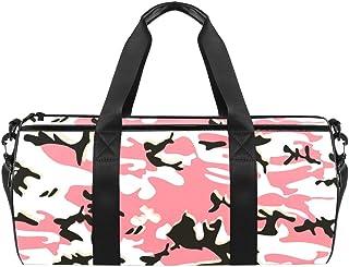 DJROWW Bunte Camouflage-Muster Reisetasche aus Segeltuch für Fitnessstudio, Sport, Tanz, Reisen, Wochenender