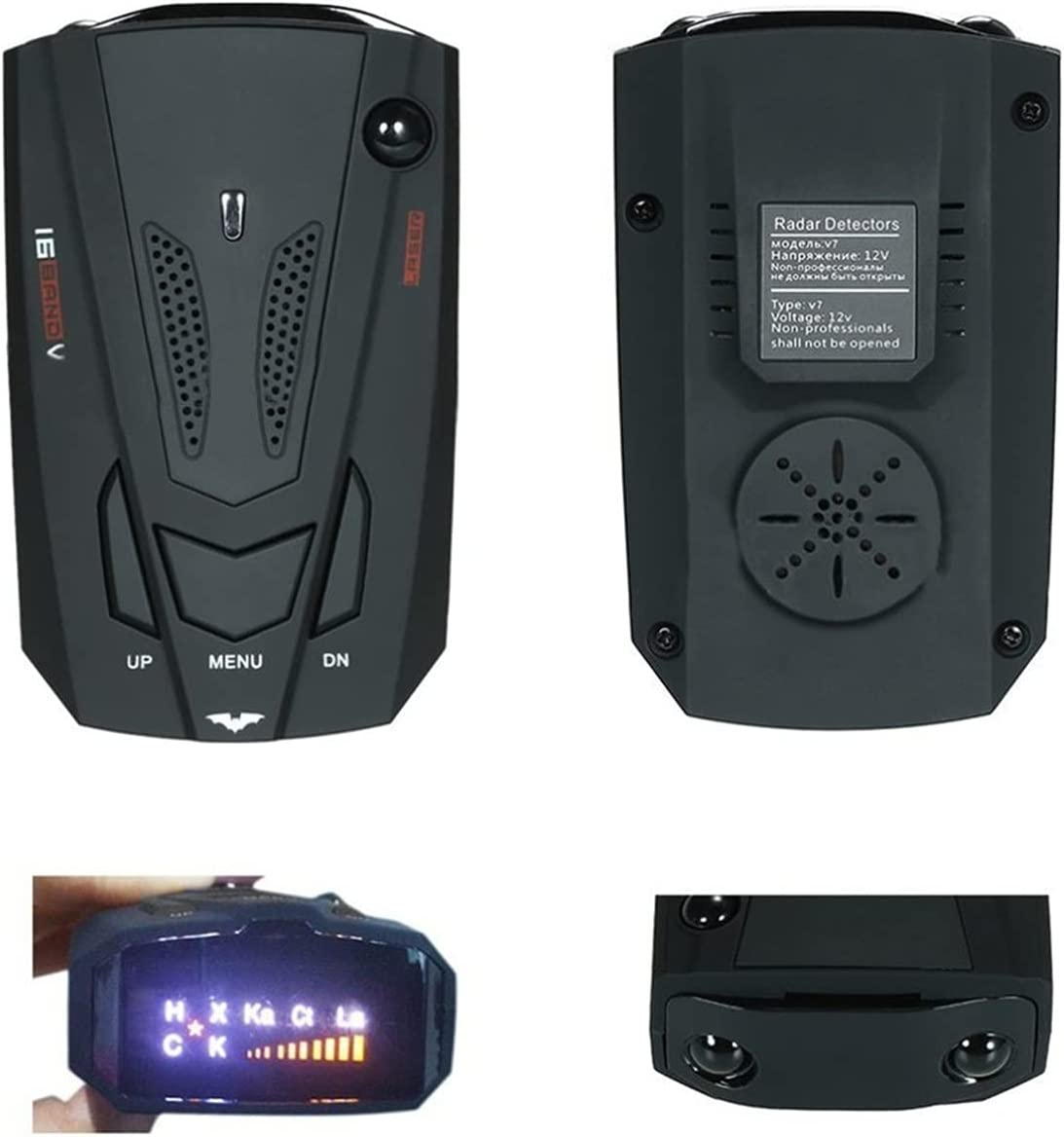 YXZQ Handheld GPS NEW Detector Deluxe Radar D LED Display with 360