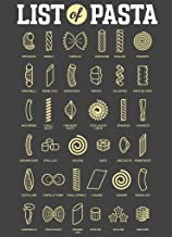 List of Pasta Styles Shapes Types Chart Diagram Cool Wall Decor Art Print Poster 12x18