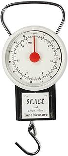 com-four® Báscula de Equipaje con Gancho - báscula de Mano de hasta 32 kg - báscula Colgante analógica - báscula de Equipa...