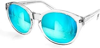 AQS Womens Daisy Oval Keyhole Sunglasses