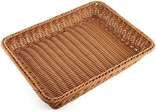 Corbeille à pain Rectangulaire Rotin Corbeille à pain Corbeille de service alimentaire Service de restauration/Corbeille d...