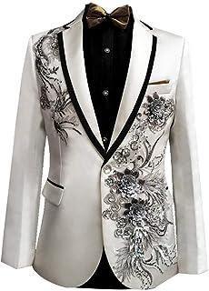 Men's Suit Tuxedos Tuxedo Slim Suits Fit Jacket Simple Estilo 1 Piece Suit Blazer Party with Embroidery 208
