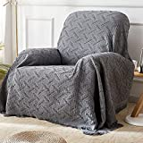 Rose Home Fashion RHF Recliner Chair Cover, Recliner Cover, Couch Cover for Recliner Furniture Protector with Tassels (Darkgray, 60 x 75 inches)