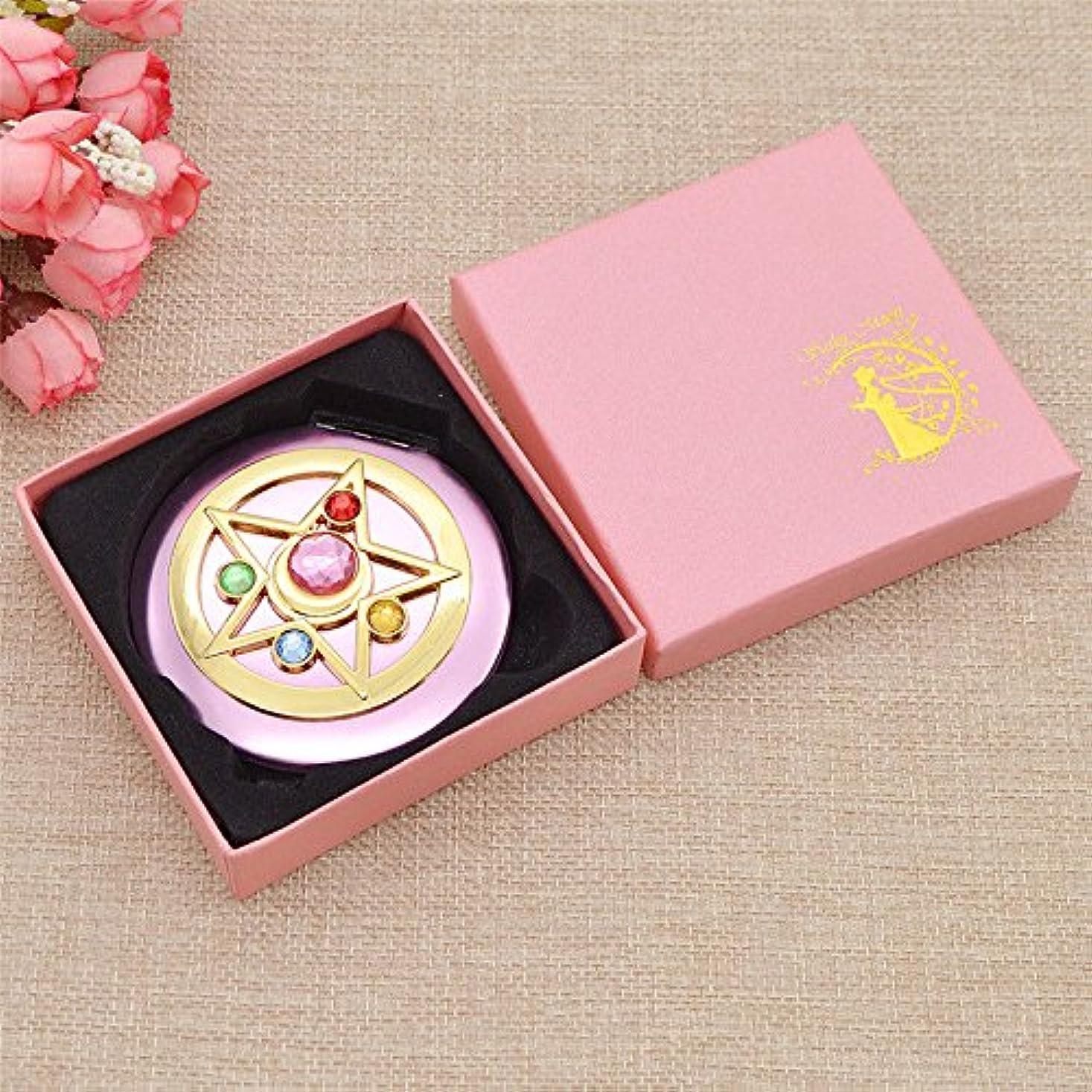 排他的体操八百屋さんSailorMoon/SailorMooncrystal/MakeupMirror/Mirror/セーラームーン/セーラームーンクリスタル/メイクミラー/ミラー/鏡/Mini Anime Sailor Moon Make up Cosmetic Mirror Portable for Lady Women Beauty