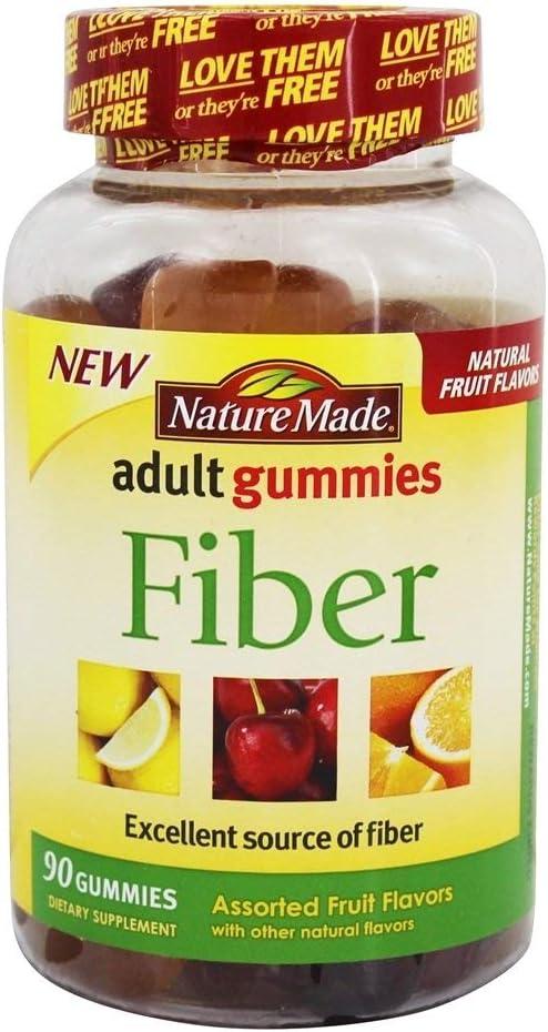 特売 Nature Made Adult Gummies 人気 おすすめ Fiber - Fruit 90 Assorted