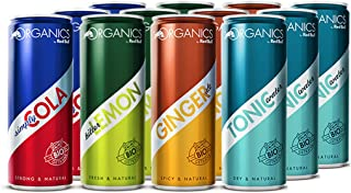 Organics Red Bull, 12 unidades (12 x 250 ml), Bio (cola, Bitter Lemon, Ginger Ale, Tonic Water)