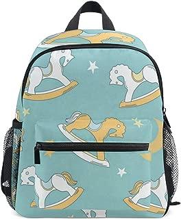 Vintage Rocking Horse School Backpack for Boys Kids Primary School Bags Children Backpacks