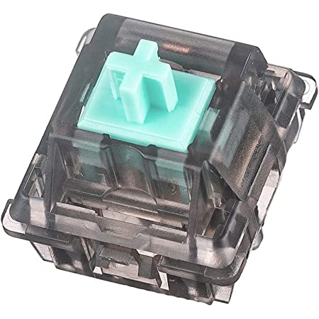 DUROCK Linear Switches 62g Translucent Smokey Aqua Teal Switch with Gold-Plated Spring Smooth Creamy Green Stem 5 Pins Linear Keyswitch for DIY Mechanical Keyboards