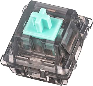 DUROCK Linear Switches 62g Translucent Smokey Aqua Teal Switch with Gold-Plated Spring Smooth Creamy Green Stem 5 Pins Lin...