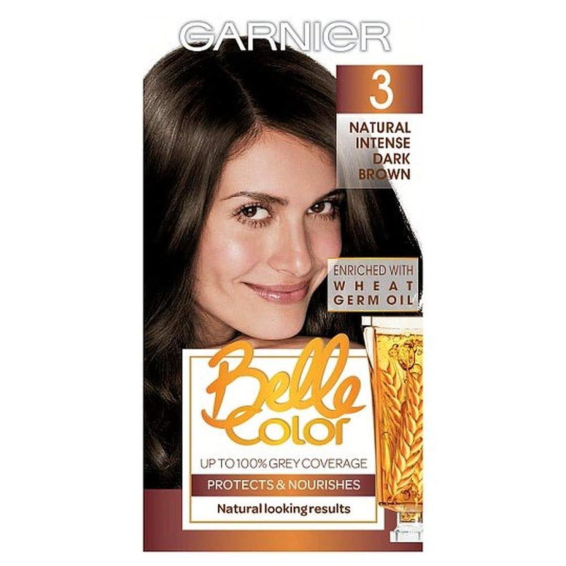 フィードオン素敵な長いです[Belle Color ] ガーン/ベル/Clr 3ダークブラウンパーマネントヘアダイ - Garn/Bel/Clr 3 Dark Brown Permanent Hair Dye [並行輸入品]