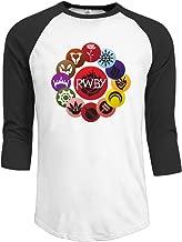 GOOOET Men's RWBY Ring 3/4 Sleeve Cotton Tee Shirts