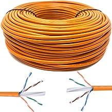 Mr. Tronic 100m Cable de Instalación Red Ethernet Bobina | CAT6, AWG24, CCA, UTP (100 Metros, Naranja)