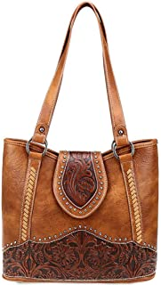 Trinity Ranch Womens Concealed Carry Tote Purse Tooled Leather Collection TR81G-8317
