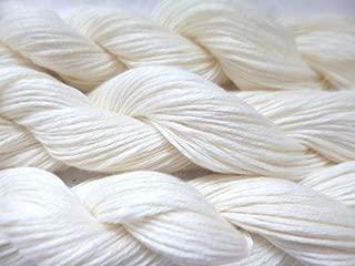 Cream White 5 Ply Cotton Fingering Knitting Crochet Yarn