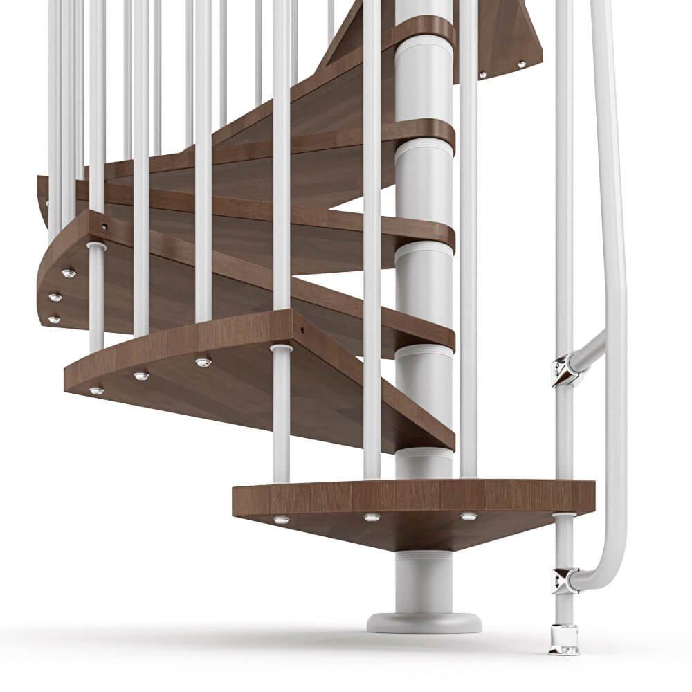 Escalera de caracol de madera mobirolo Nova Nogal y blanco varios tamaños: Amazon.es: Bricolaje y herramientas