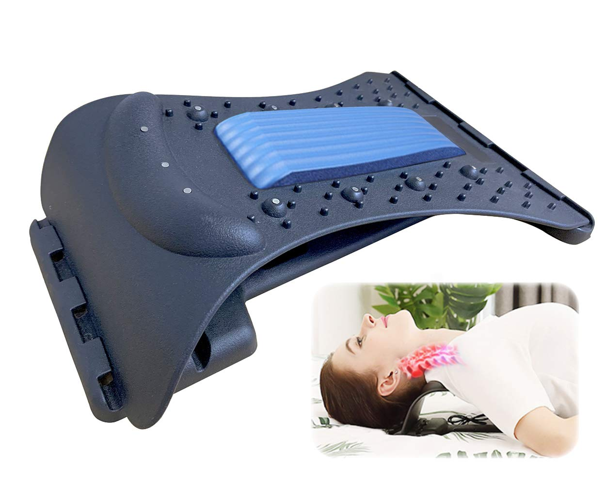 Back Stretcher Lumbar Pain Max 48% OFF Save money M Adjustable Device Relief
