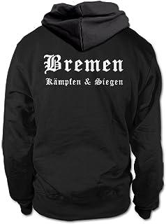 shirtloge Bremen - Kämpfen & Siegen - Fan Kapuzenpullover - Größe S - 3XL