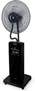 IKOHS TROPWIND Touch - Ventilador de Pie Oscilante con Nebulizador de Agua, Mando a Distancia, 2,5 L, 80W, 3 Modos, Nebulizador Oscilante Ultrasilencioso, Oscilación Lateral, Silencioso, Negro