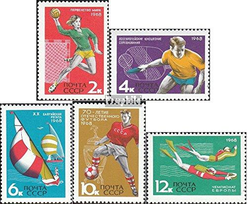 Prophila Collection Unione Sovietica 3512-3516 (Completa Edizione) 1968 Sport concorsi (Francobolli per i Collezionisti) Sport Acquatici