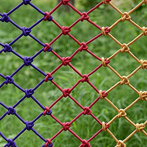 Red De Seguridad Para Niños Colorida, Red Protectora De Barandilla De Escalera De Balcón Para Niños, Red De Valla De Patio De Recreo, Red De Cuerda De Nailon Personalizable(Size:3*10M(10*33ft))