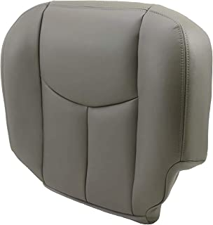 JMTAAT Leather Driver Side Bottom Seat Cover for 2003-2006 Chevy Tahoe Suburban GMC Yukon 922 Pewter