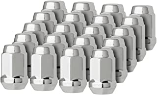 DPAccessories LCB3B2HC-CH04020 20 Chrome 1/2-20 Closed End Bulge Acorn Lug Nuts - Cone Seat - 3/4