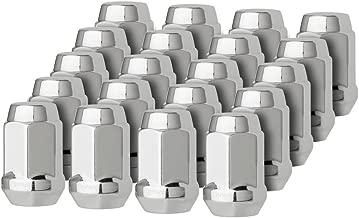 DPAccessories LCB3B6HC-CH04020 20 Chrome 12x1.5 Closed End Bulge Acorn Lug Nuts - Cone Seat - 19mm Hex Wheel Lug Nut