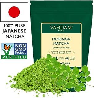 VAHDAM, té verde Matcha Moringa (50 porciones) | 100% PURE