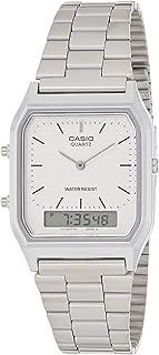 ساعة كاسيو للكبار من الجنسين من كاسيو، مع شاشة عرض انالوج-رقمية وسوار من الستانلس ستيل
