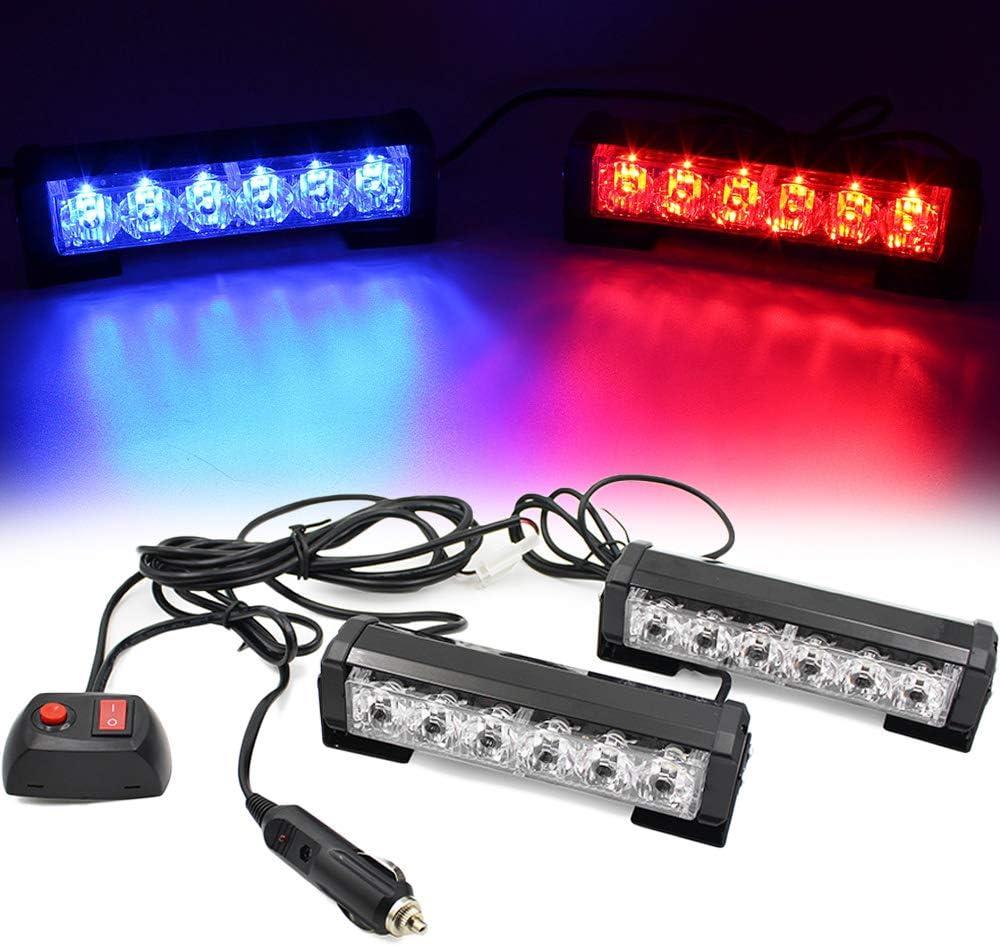 FOXCID 2 X 6 Cheap bargain LED 9 Warning Vehic Advisor Emergency Modes Ranking TOP3 Traffic